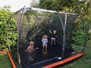 Jump Power In ground rectangular trampoline