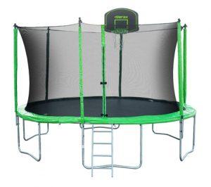 Merax Round Trampoline Basketball Hoop