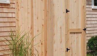 Cedar House Mount Outdoor Shower Enclosure