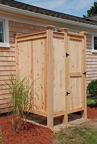 Cedar House Mount Outdoor Shower Enclosure