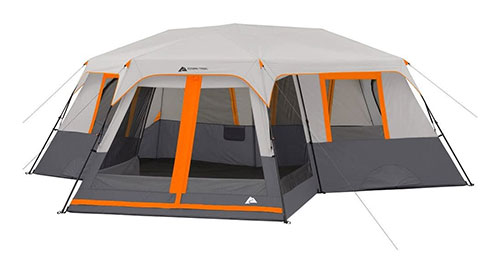Ozark Trail 12-Person 3-Room Instant Cabin Tent with Screen Room